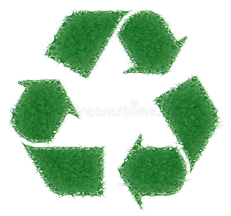 Green grass recycling. High resolution green grass recycling royalty free illustration