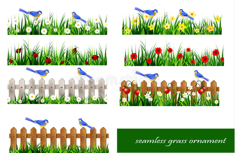 Green Grass seamless royalty free illustration