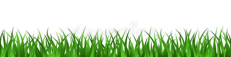 Green grass lawn seamless border summer background stock illustration