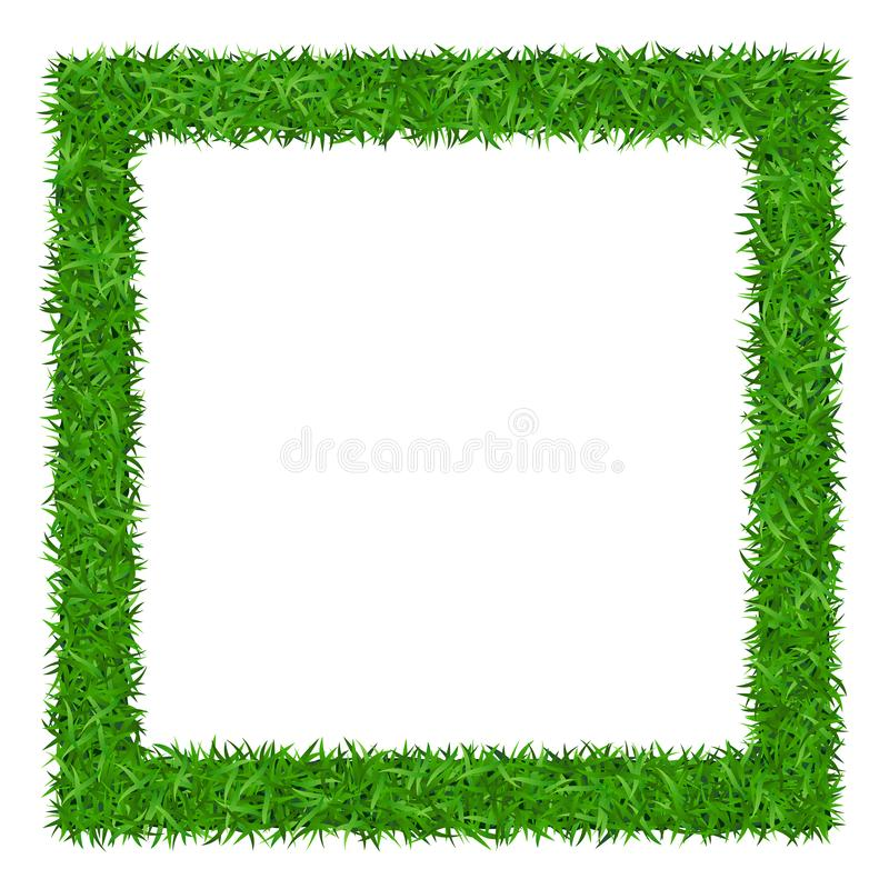 Green grass Square frame with copy-space 1 royalty free illustration
