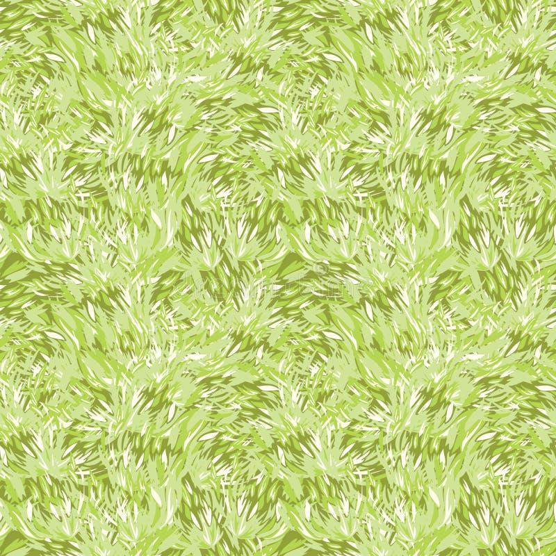 Green grass texture seamless pattern background stock illustration
