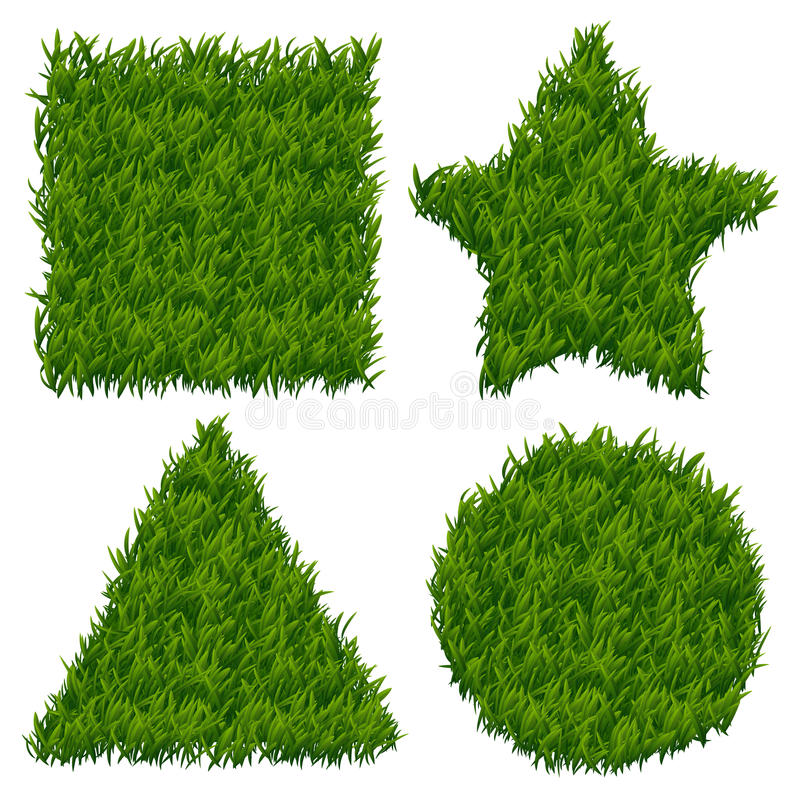 Green grass vector banners set royalty free illustration