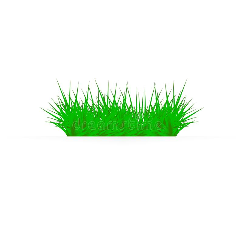 Green grass on a white background. glade in the forest of grass stock illustration