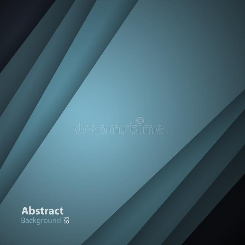 Green-gray vector background with overlay paper layer. Gradient color with space for text and message artwork design stock illustration