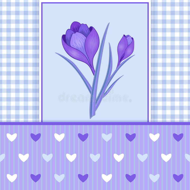 Green Greeting Card with Roses and Hearts-01 vector illustration