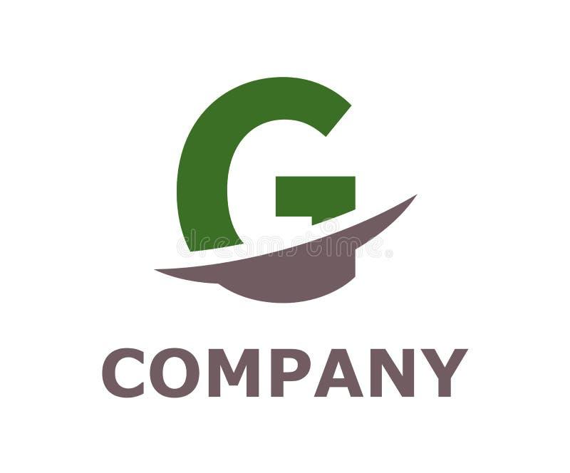 Slice alphabet logo g. Green and grey color logo symbol slice type letter g by blade initial business logo design idea illustration shape for modern premium stock illustration