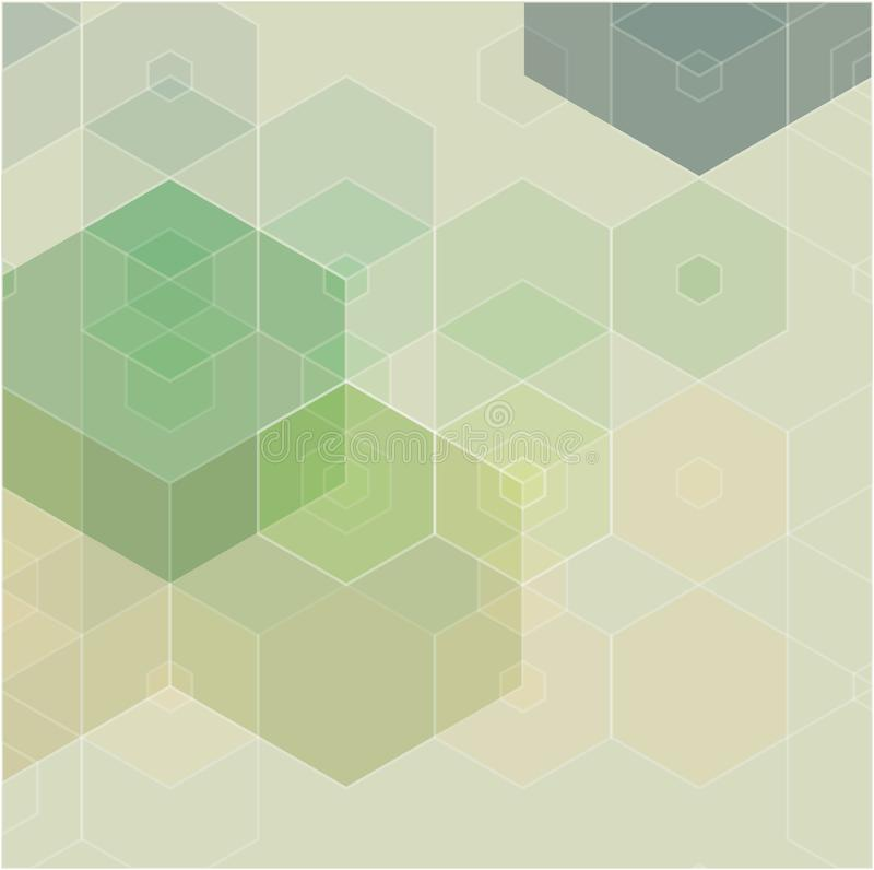 Green grid mosaic background, creative design templates. vector illustration