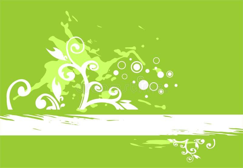 Green grunge background vector illustration