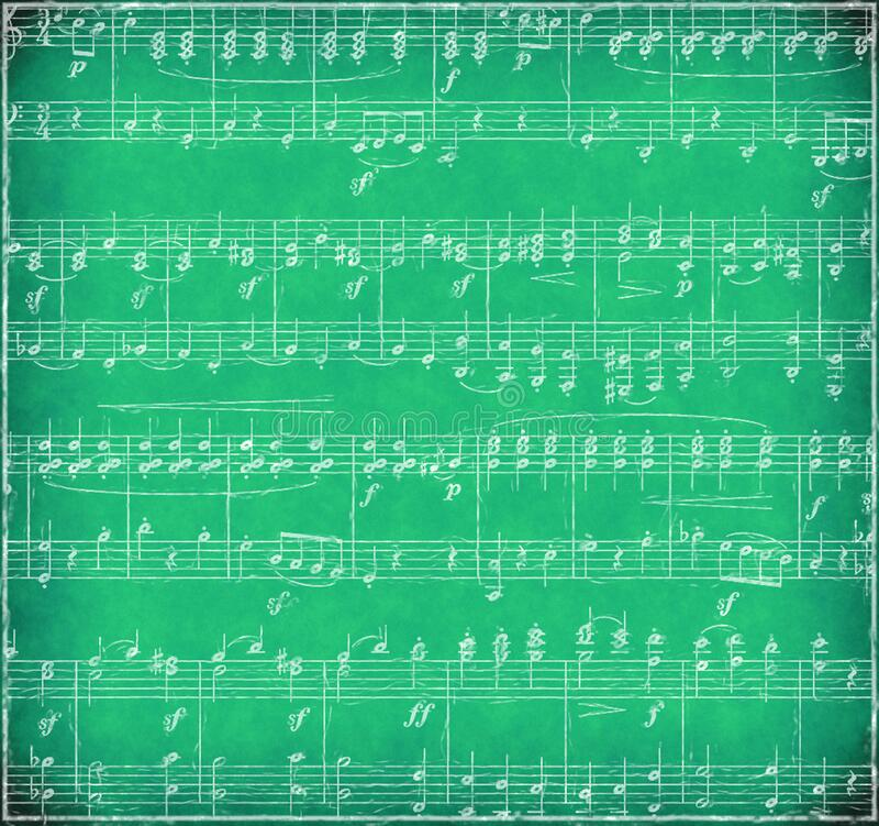 Green Grunge Music Background stock photo