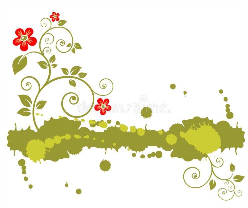 Green grunge pattern vector illustration