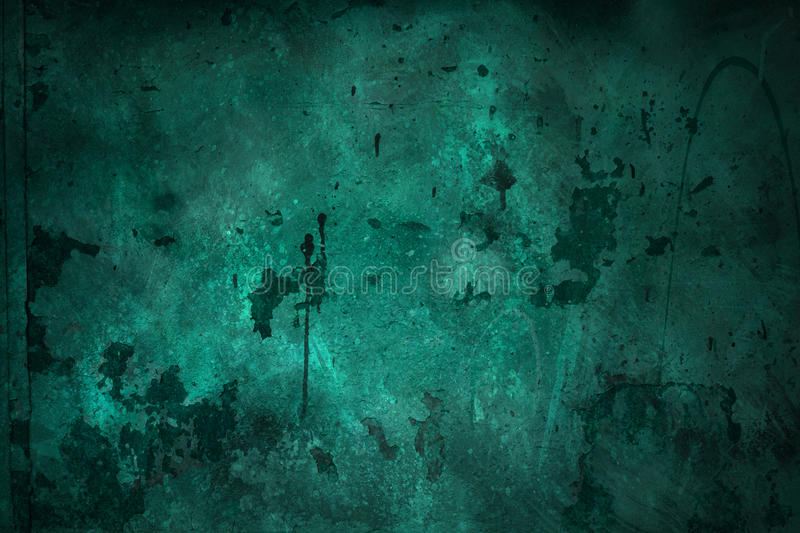 Green grungy wall. Background or texture royalty free stock photos