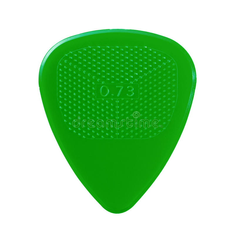 Free Green Guitar Plectrum Royalty Free Stock Photography - 11905267