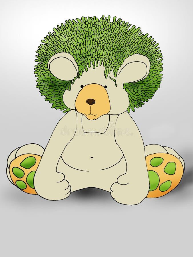 Green hair Teddybear royalty free stock photography