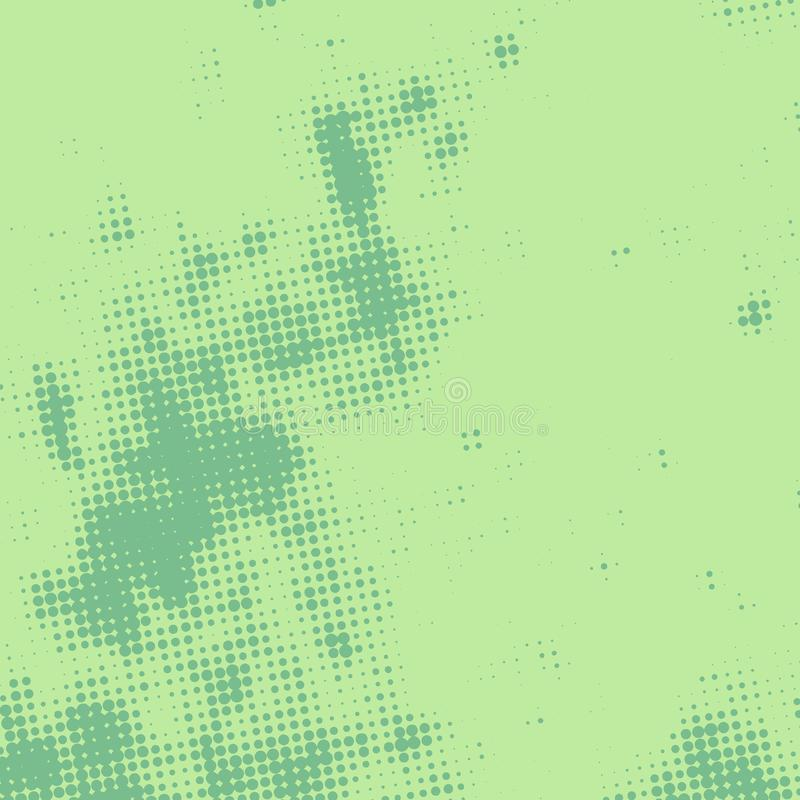 Green Halftone Texture royalty free illustration