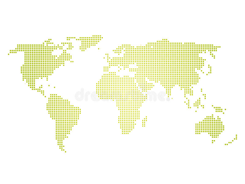 Green halftone world map of small dots in linear arrangement simple download green halftone world map of small dots in linear arrangement simple flat vector illustration gumiabroncs Gallery
