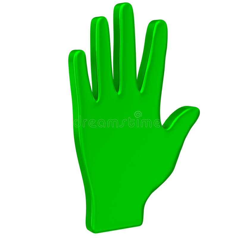 Green hand icon 3d royalty free illustration