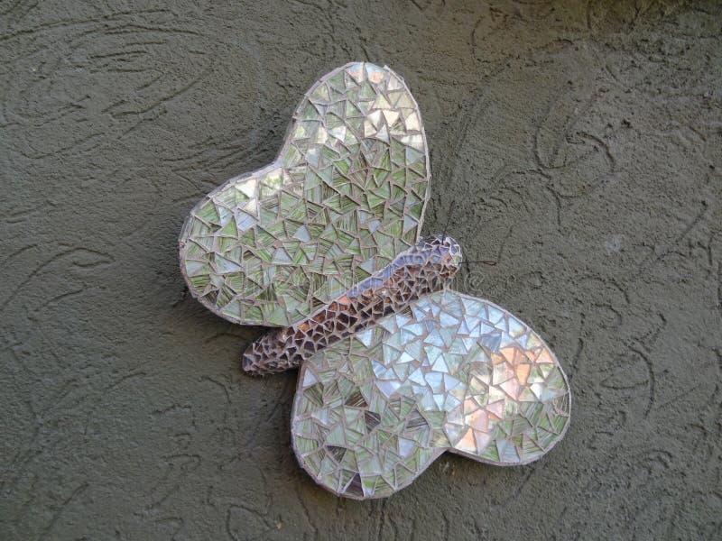 Green hand made Butterfly. Mariposa Artesanal Verde stock image