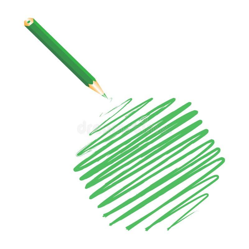 Download Green handwritten hexagon stock illustration. Image of green - 13006677