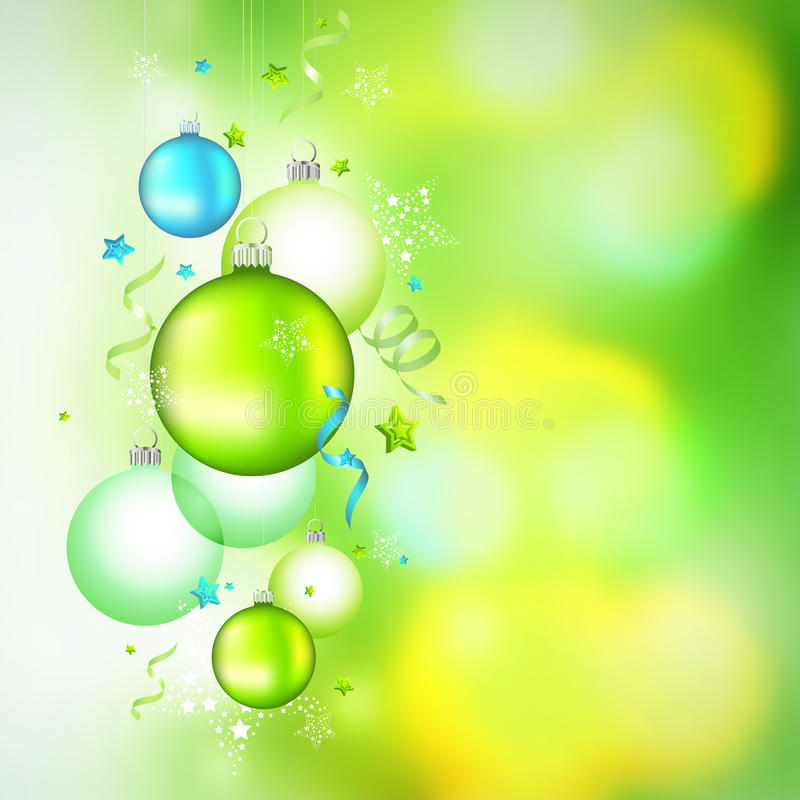 Free Green Hanging Christmas Baubles Stock Photos - 16990113