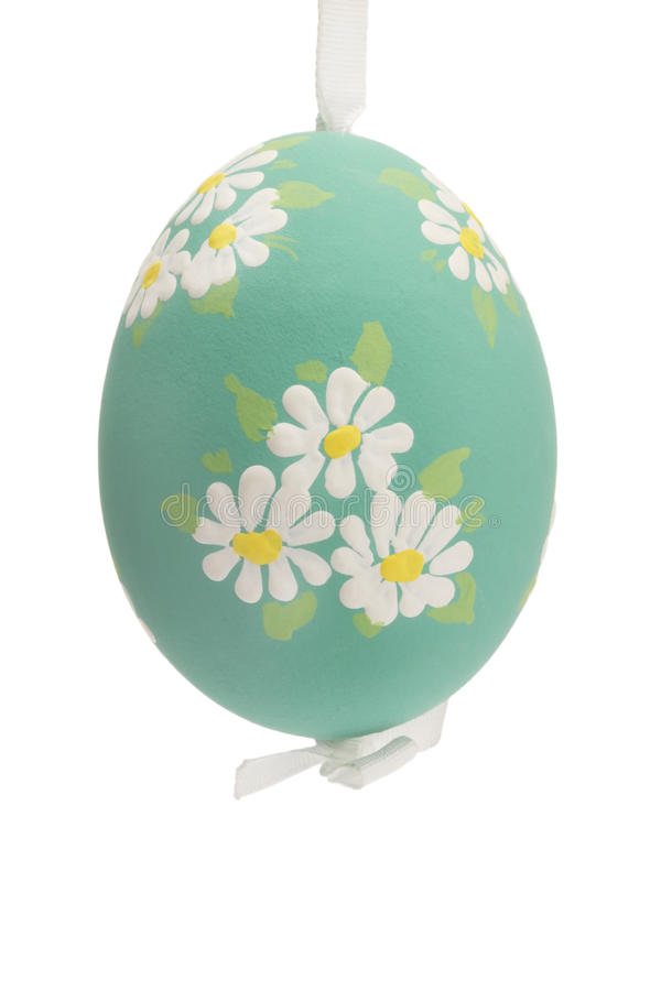 Green Hanging Hand Painted Easter Egg Royalty Free Stock Images