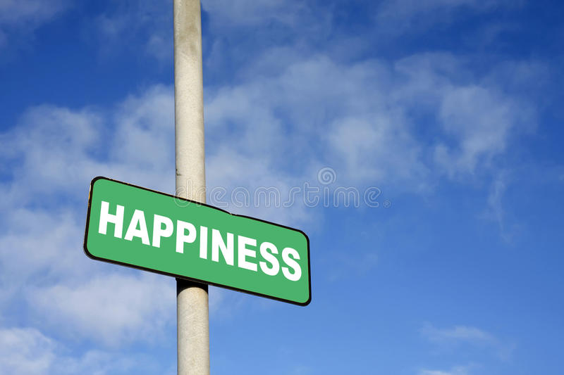 Green Happiness Sign Royalty Free Stock Image