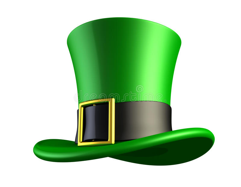 Green hat of a leprechaun royalty free illustration