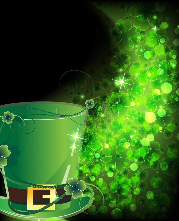 Download Green Hat And Shining Clover Stock Vector - Image: 23772934