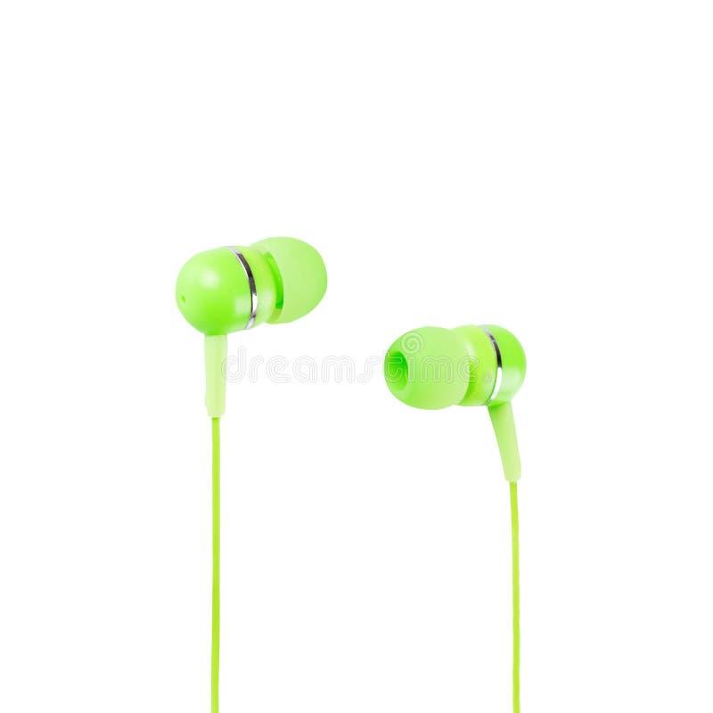 Green Headphones stock image