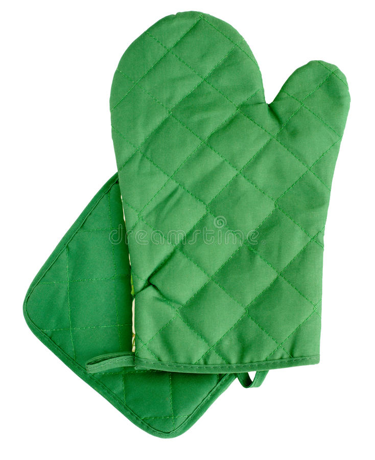 Download Green Heat Protective Mitten Stock Photo - Image: 24041892