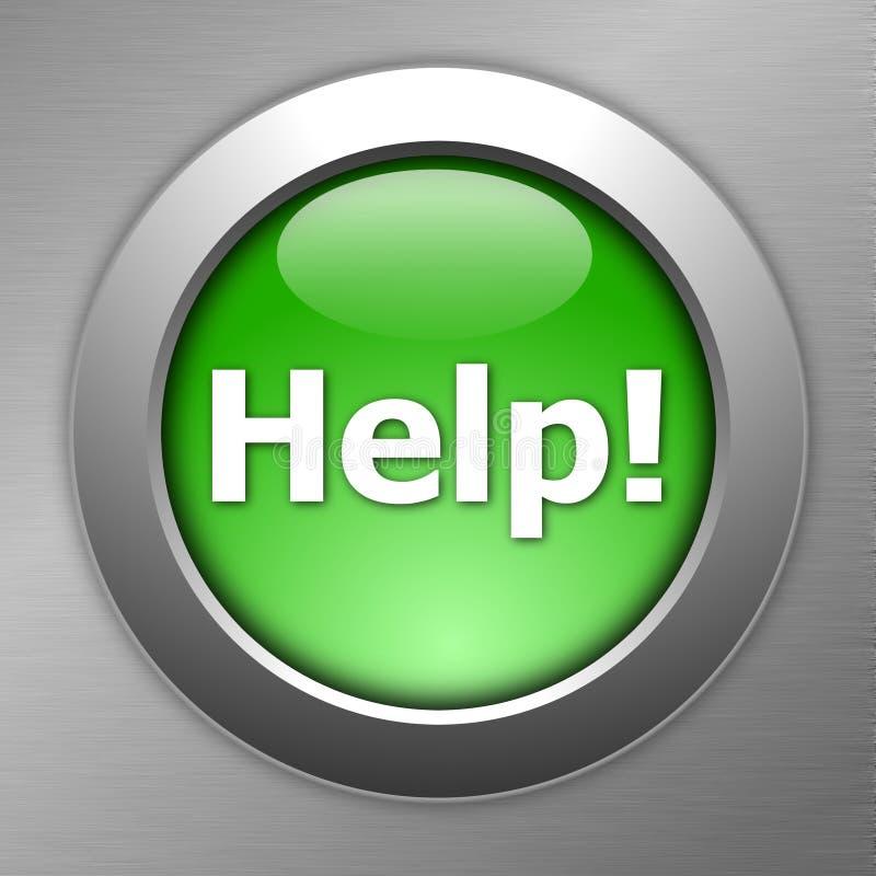 Green help button stock illustration