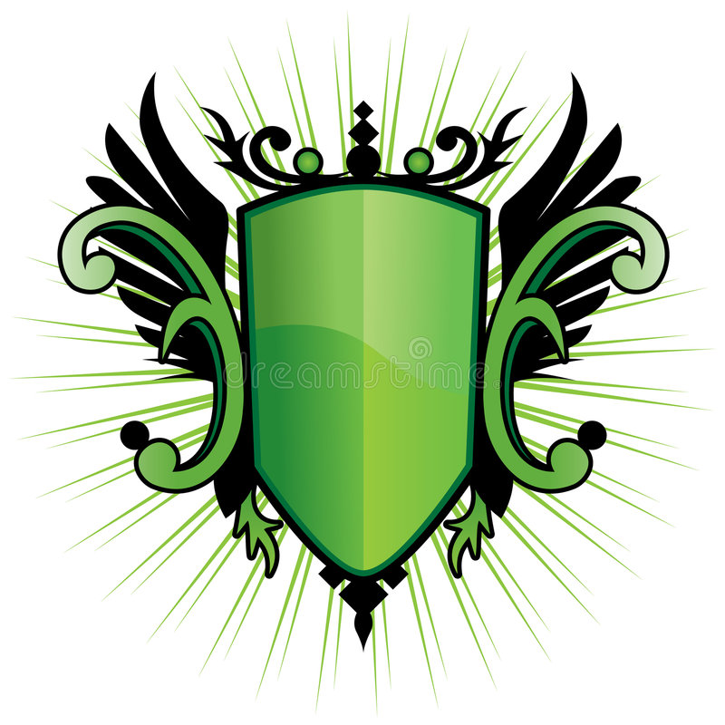 Free Green Herald Crest Royalty Free Stock Photos - 8575788