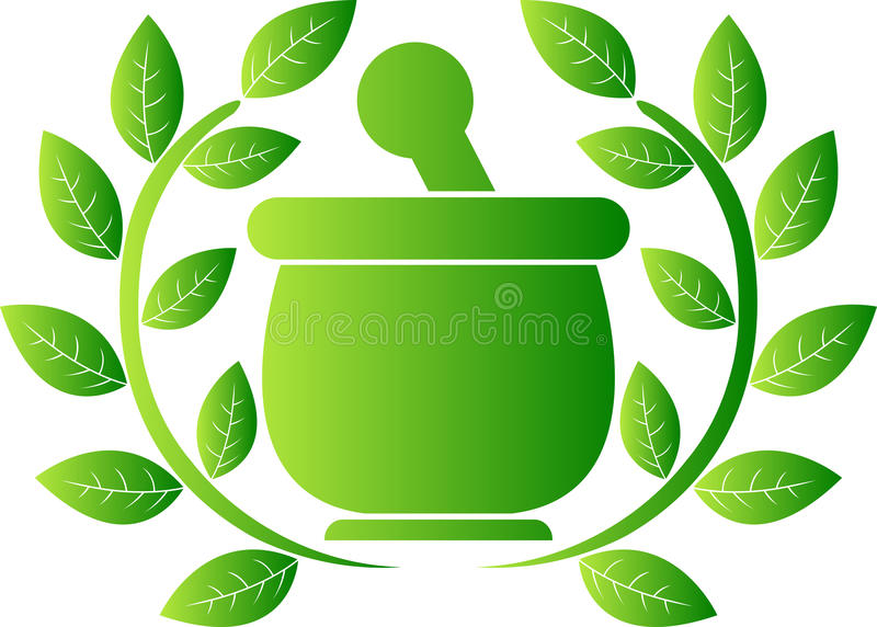 Green herbal logo