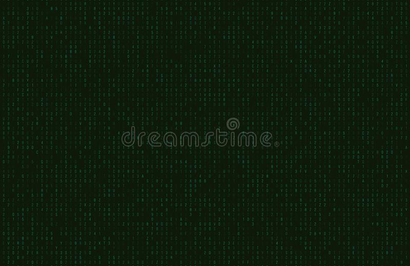 Abstract matrix background. vector illustration