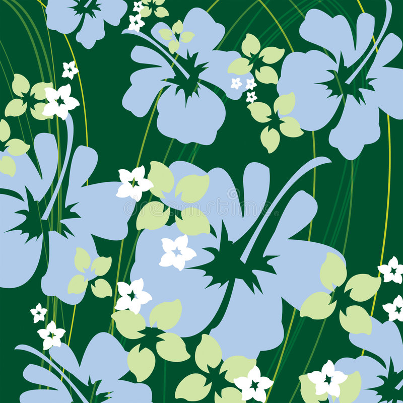 Green hibiscus. Pattern background