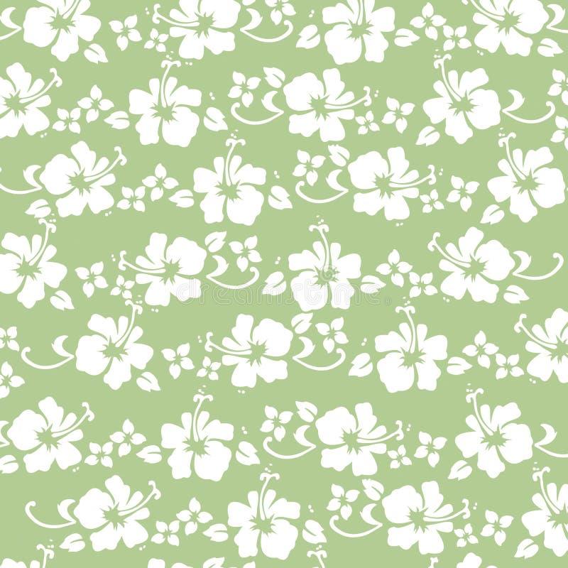 Green hibiscus pattern vector illustration