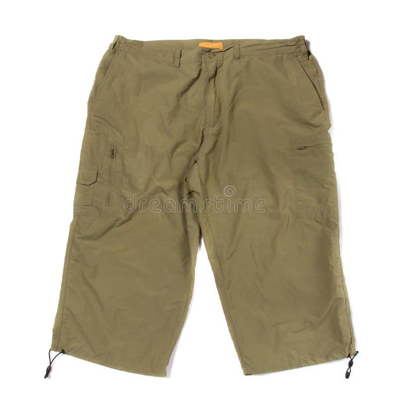 Green hiking Shorts royalty free stock image