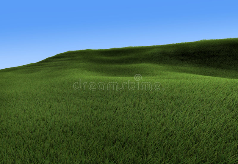 Download Green hill stock illustration. Image of fresh, green, lawn - 7936562