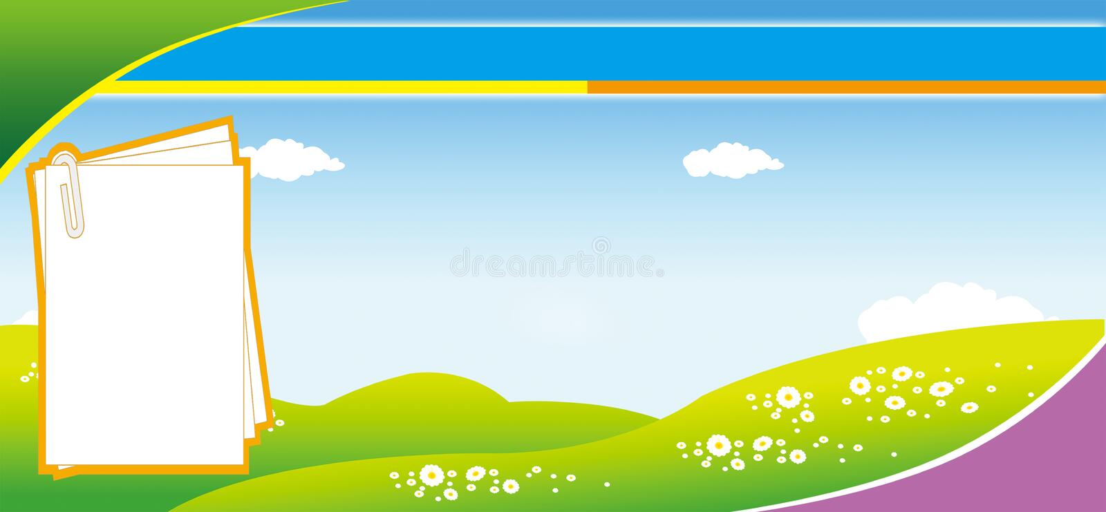 Green hill background stock images