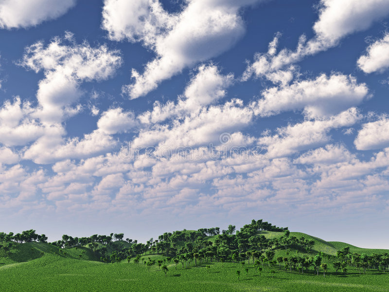Green hills stock illustration
