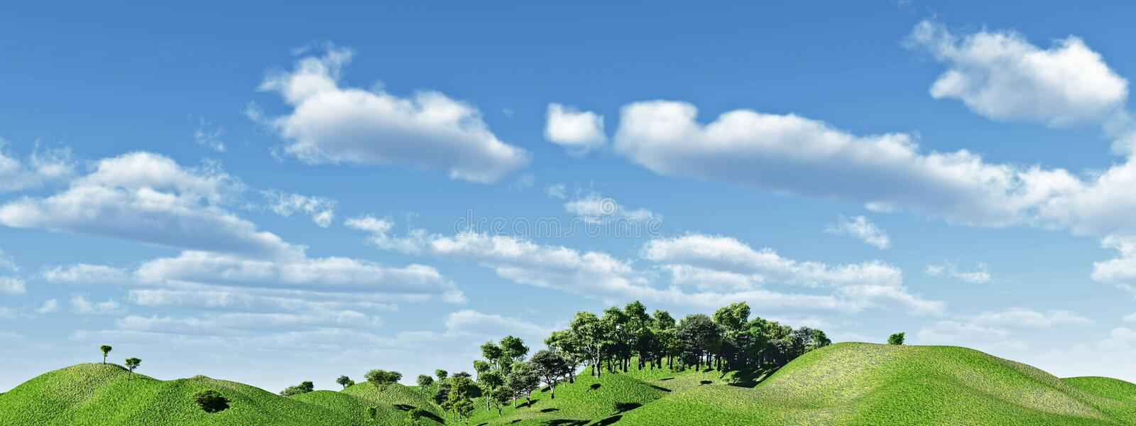 Download Green hills stock illustration. Image of rural, cloudy - 3617144