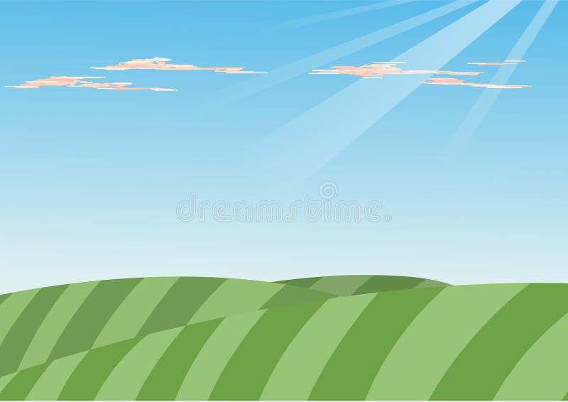 Download Green Hills stock illustration. Illustration of farm, clean - 8613462