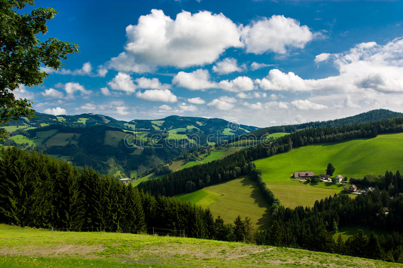 Green hills in Austria royalty free stock image