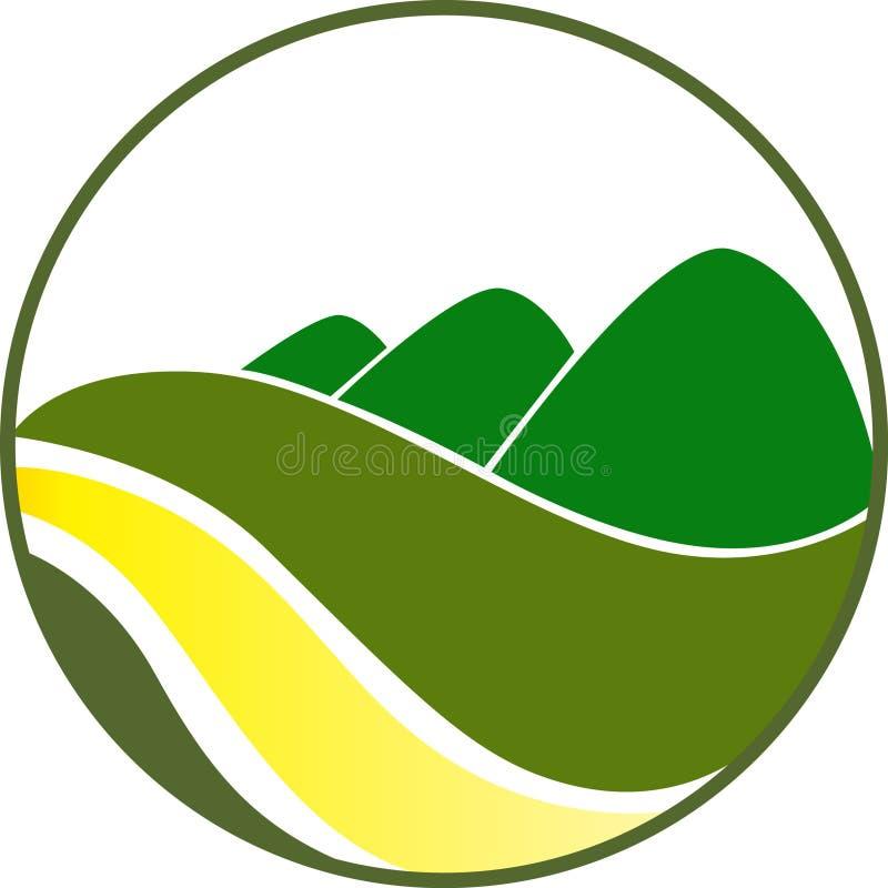 Green Hills. Logo concept has been created as vector vector illustration