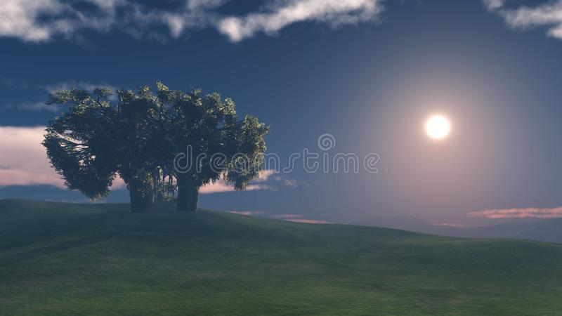 Panorama of the hilly landscape royalty free stock image