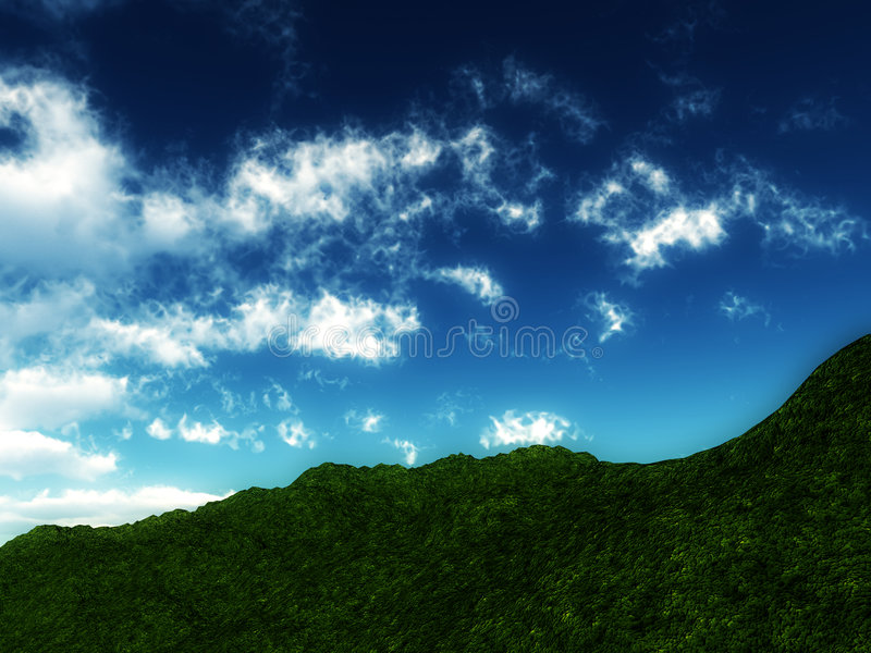 Green Hillside Royalty Free Stock Photography