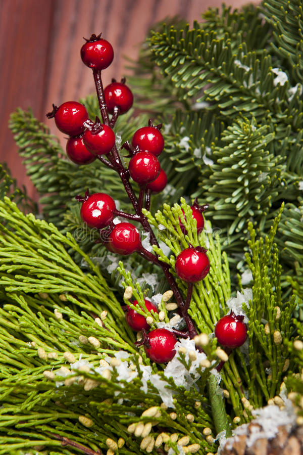 Green Holiday Christmas Decoration Stock Image