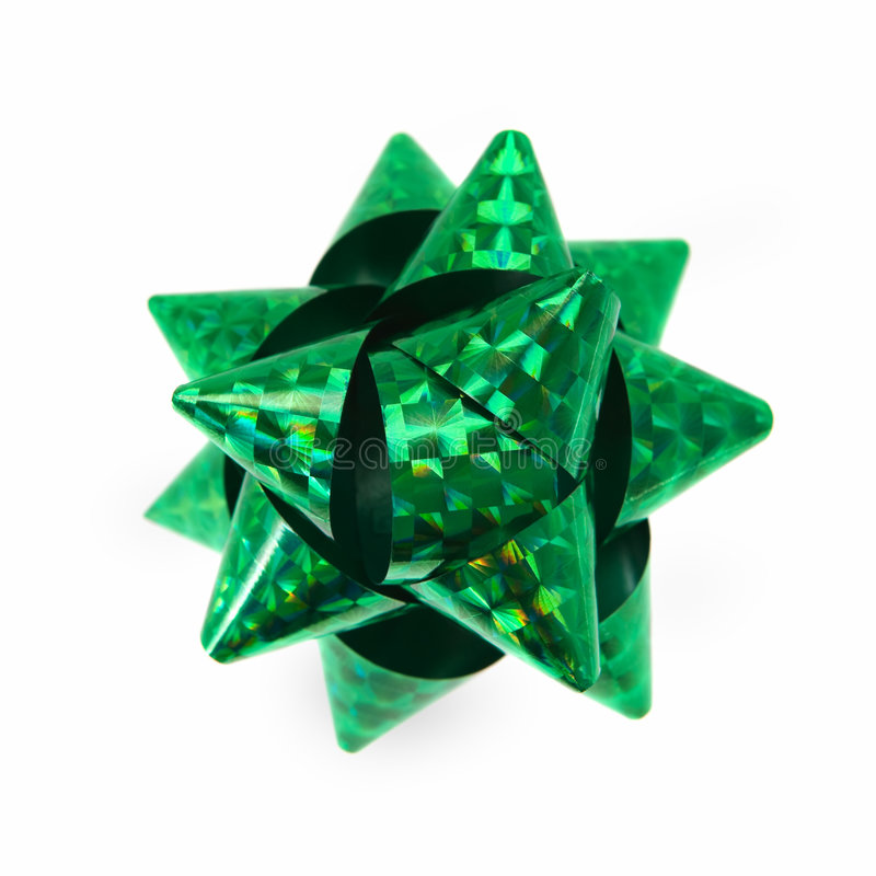 Download Green holographic bow stock image. Image of place, path - 3656561