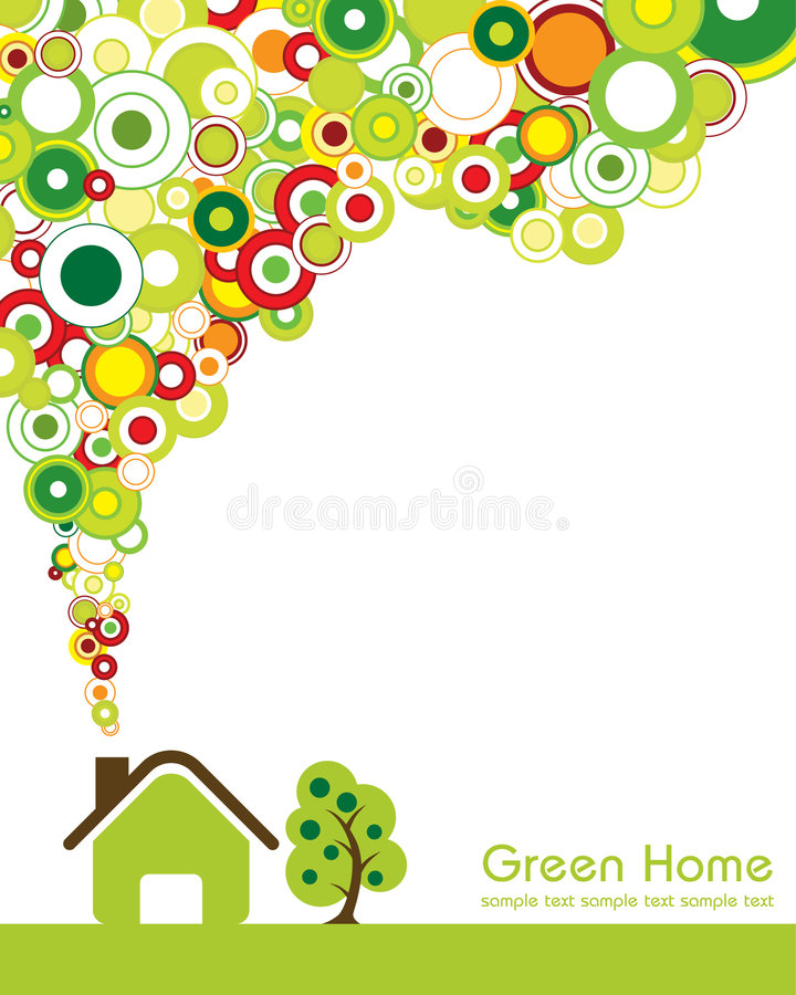 Green Home. Great idea of environmentally friendly concept background for your website, powerpoint, leaflet etc vector illustration