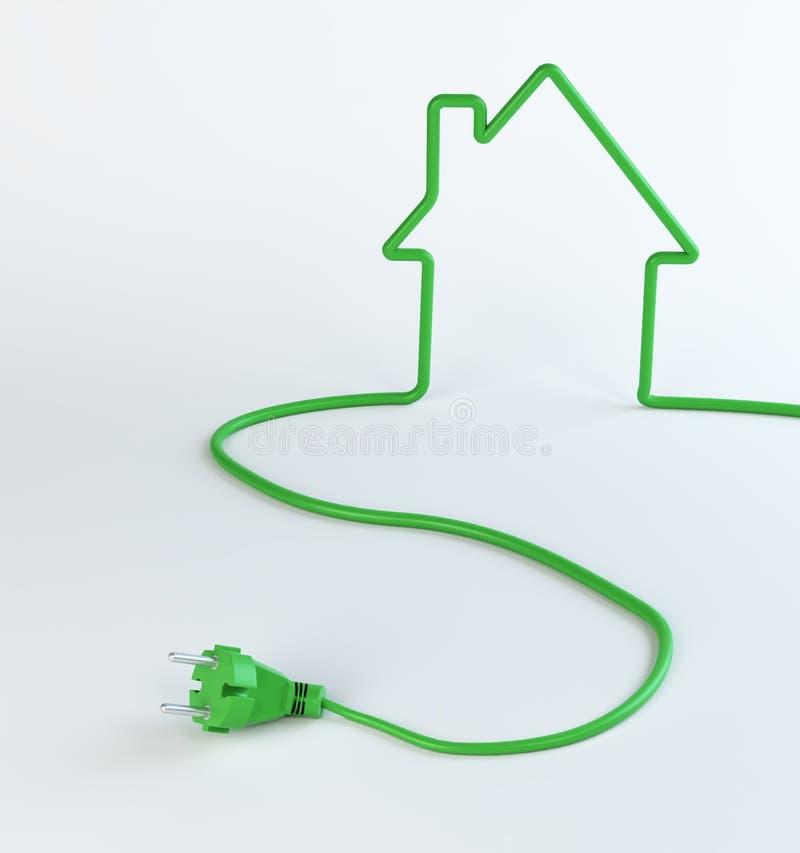 Green home energy stock illustration