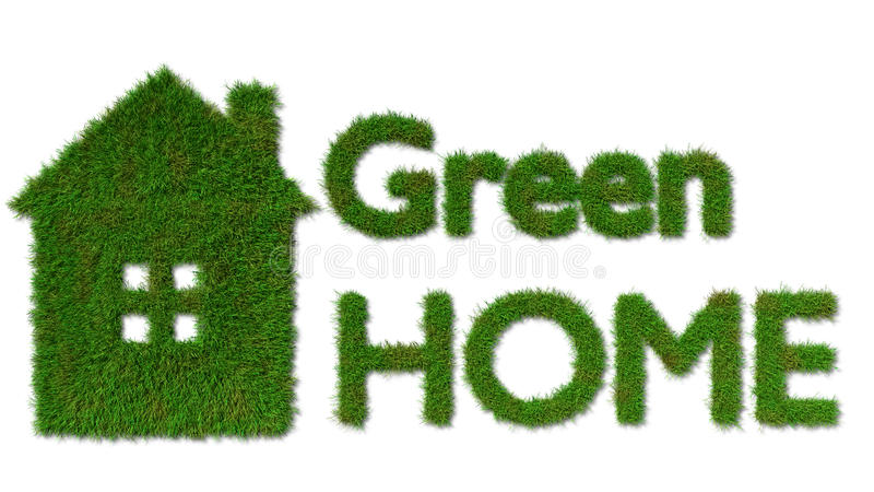 Green home icon - ecology house concept vector illustration